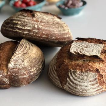 Barbara Kamut breads first slice