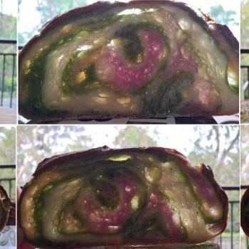 TheBees Green Tea and Sweet Potato Sourdough second slice